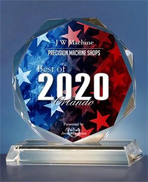 J W Machine Receives 2020 Best of Orlando Award